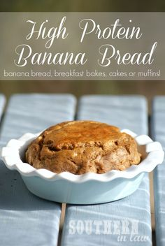 High Protein Banana Bread - Low Fat, Gluten Free, Healthy