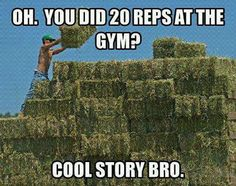 Sergeant Schroeder's Fitness: Oh, You Did 20 Reps At The GYM? Cool Story Bro!
