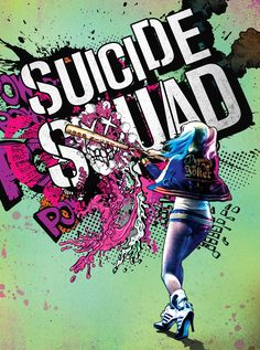 """Splat brand is a proud theatrical partner for one of this summer's most highly anticipated movie – Suicide Squad in theatres August Winners will be chosen on July 2016 """"F… Sucide Squad Movie, Vintage Disney Posters, Margot Robbie Harley, Queen Poster, Batman, Color Kit, Dc Memes, Joker And Harley Quinn, Marvel Dc Comics"""