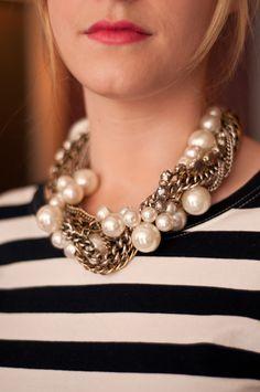 Pearls & B/W stripes CLASSIC.