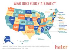 Because this map shows what everyone hates in all 50 states.