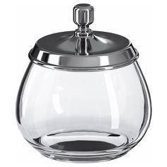 MOGDEN Jar with lid - IKEA storage, cotton buds etc. £4
