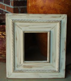 Vintage Distressed Picture Frame 8x10 20x22 by hayleykellyframes, $88.00