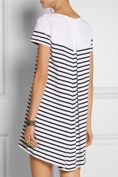 Sacai|Sacai Luck striped cotton-jersey mini dress|NET-A-PORTER.COM