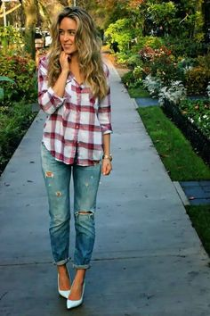 With Boots women winter outfits - Dressy women winter outfits - Plus Size women winter outfits # frauen winter outfits # abiti invernali da donna # trajes de invierno de mujer # tenues d'hiver pour femmes Cute Flannel Outfits, Trendy Fall Outfits, Plaid Outfits, Winter Outfits Women, Casual Outfits, Cute Outfits, Fashion Outfits, Womens Fashion, Fashion Ideas