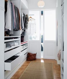 Ikea Walk In Closet Design - pax wardrobe system Walk In Closet Ikea, Closet Walk-in, Walk Through Closet, Closet Vanity, Walk In Closet Design, Closet Designs, Closet Ideas, Small Walk In Wardrobe, Closet Space