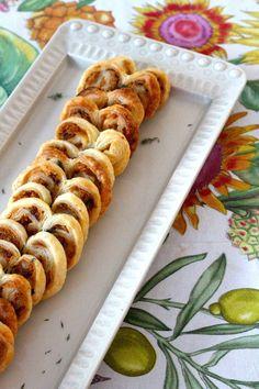 Palmiers de Alheira (receita também em video) - http://gostinhos.com/palmiers-de-alheira-receita-tambem-em-video/