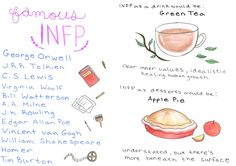"""amberkaylly: """"The life of an INFP Types as drinks source Types as desserts source More by Me Follow """""""