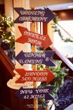 Arrow wedding signs