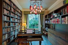 Bookshelves and Chandeliers
