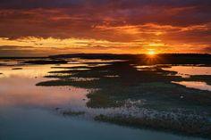 RyE Marshlands @sunset. Cost of experience = 0.00. //// #rye #marsh #water #reflection #sky #sunset #sun #clouds #colours #gold #red #sonya6000 #captureonepro #Photoshop #landscape #every3secondsadonkeycries #nisi #ndreversegrad @visitrye