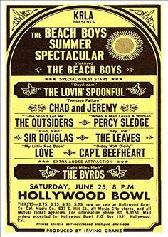 """The Beach Boys Summer Spectacular 1966."" Fantastic A4 Glossy Print Taken from A Vintage Concert Poster by Design Artist http://www.amazon.co.uk/dp/B0154XKGLU/ref=cm_sw_r_pi_dp_qle8vb18AM1MV"