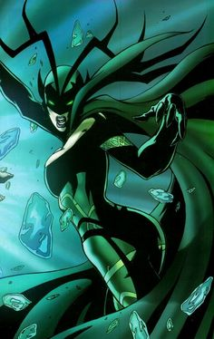 Hela, daughter of Loki and goddess of death. Ruler of Niffleheim and Hel. I am not a geek at all.....