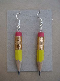 pencil earrings <3