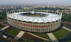 Bucharest National Arena (Romania) hosted the UEFA Europa League finals on May 2012 Soccer Stadium, Football Stadiums, Europa League, European Football, Baseball Field, Photo Galleries, Around The Worlds, Bucharest Romania, Playgrounds