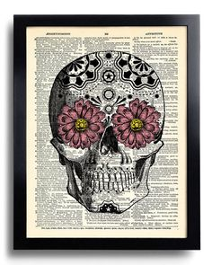 Hey, I found this really awesome Etsy listing at https://www.etsy.com/uk/listing/183458123/day-of-the-dead-flower-mexican-skull