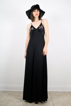 Vintage S M Black Lace Up Back Boho Orchid by ShopTwitchVintage, $64.99