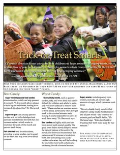 Brush up on your Trick-orTreat Smarts and help your kids make smart choices!