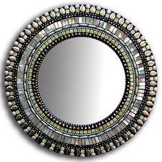 Purchase Beige Bronze Mirror from Zetamari Mosaics on OpenSky. Mosaic Artwork, Mirror Mosaic, Mosaic Glass, Glass Art, Diy Art Projects, Mosaic Projects, Mosaic Ideas, Shimmer Lights, Bronze Mirror