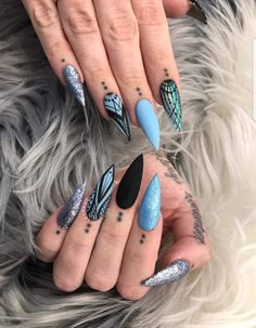 Cute Nail Art Ideas to Try - Nailschick Sexy Nails, Hot Nails, Stiletto Nails, Trendy Nails, Hair And Nails, Stiletto Nail Designs, Nail Swag, Cute Nail Art, Beautiful Nail Designs