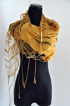 Cool Scarf with braids and metal