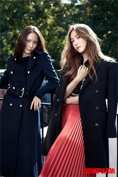 The Jung Sisters, Jessica Jung and Krystal Jung are being featured in the latest issue of the fashion publication Cosmopolitan. Krystal Jung Fashion, Jessica Jung Fashion, Jessica Jung Style, Krystal Fx, Jessica & Krystal, Magazine Cosmopolitan, Instyle Magazine, Fashion Line, Pop Fashion
