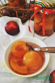 compot-fara-conservanti-de-nectarine Jam Recipes, Vegetables, Sweet, Mai, Food, Canning, Home Canning, Marmalade, Candy