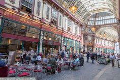 Leadenhall Market a bustling Victorian market packed with fine shops & restaurants, London, England, UK
