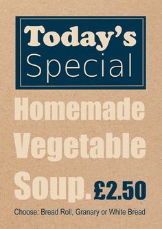 Special dishes design for Legends Cafe at GT Motorcycles.   #menu #special #soup #winter #design