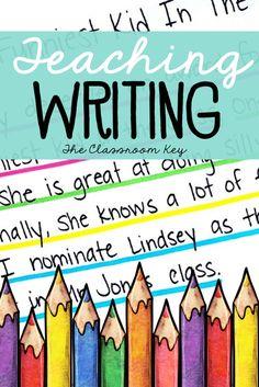 8 Smart Strategies for Teaching Writing for elementary teachers