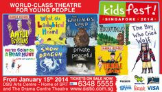 #KidsFest 2014 returns from Wed 15 January - Sun 9 February 2014 with nine international theatre productions adapted from best-selling children's books. #singapore #events #thingstodo #kids #drama #acts #books