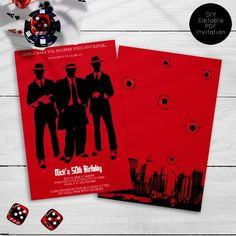 Custom Party Invitations, Birthday Invitations, Mafia Theme Party, Diaper Invitation Template, Printing Services, Color Change, Design Elements, Party Themes, Create Your Own