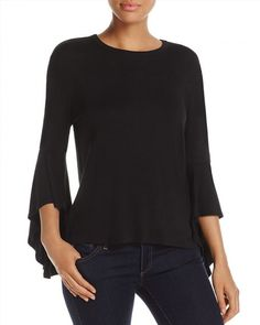 58.00$  Buy now - http://villy.justgood.pw/vig/item.php?t=tnrx745807 - Kim & Cami High Low Bell Sleeve Top