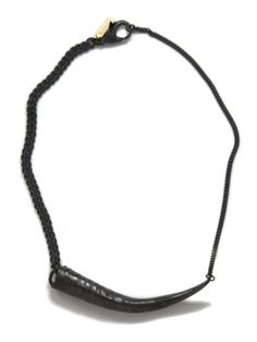GUNMETAL HORN NECKLACE