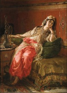 Karel Ooms - Dreaming in the harem