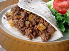 There are probably about as many different recipes for picadillo as there are Hispanic cooks. This is mine, there's no raisins or nuts, just. Mexican Dishes, Mexican Food Recipes, Beef Recipes, Cooking Recipes, Ethnic Recipes, Spanish Recipes, Mexican Cooking, Cooking Ideas, Food Ideas