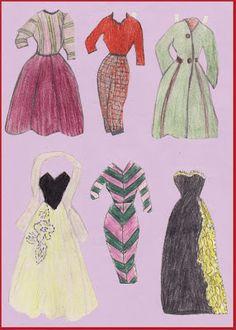 Ingrids Påklædningsdukker: Tempo 1954-55 Julia Adams