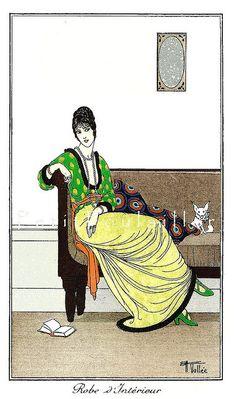 PetitPoulailler 1914 Vintage Fashion Lithograph From Journal des Dames et des Modes, Armand Vallée, Pl 125