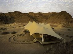 This African game changer is a state-of-the-art camp with eight tented bedrooms and private plane access to Skeleton Coast National Park. Category: Remote and Wild