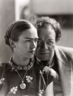 Frida Kahlo with Diego Rivera