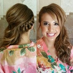I like the braid detail but the other side looks weird wedding hair 28 Beautiful Bridal Braids Hair Dos For Wedding, Side Braid Wedding, Wedding Hairstyles For Long Hair, Fancy Hairstyles, Wedding Hair And Makeup, Braided Hairstyles, Braided Wedding Hair, Bridal Hair Side Swept, Wedding Braids
