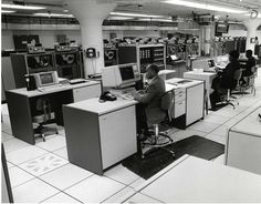 When this photo was taken at our headquarters in the 1980s, we had more than 30 years experience using computers and magnetic computer tape to store and tabulate census and survey data.