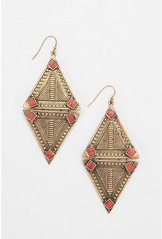 Aleph by A Peace Treaty Triangle Earrings