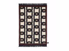 Tappeto rettangolare in lana a motivi geometrici EYES IN CHAINS Collezione Signature by cc-tapis ® design Federico Pepe