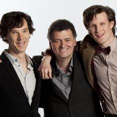 Benedict Cumberbatch, Steven Moffat, and Matt Smith. Awesome.