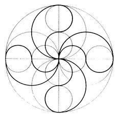 Design to draw patterns circle ideas Circle Geometry, Sacred Geometry Patterns, Sacred Geometry Art, Circle Art, Geometric Circle, Geometry Tattoo, Mandala Art Lesson, Mandala Drawing, Geometric Drawing
