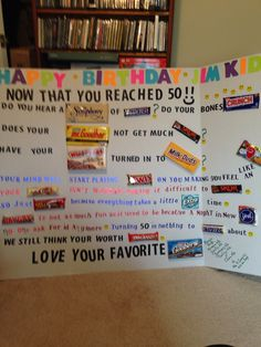 50 th Birthday man 50th Birthday Party Ideas For Men, Moms 50th Birthday, Fifty Birthday, 50th Party, Birthday Fun, Birthday Crafts, Birthday Parties, Milestone Birthdays, Gift Ideas