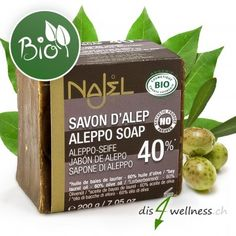 Aleppo Seife 40% LBÖ BIO, 200 g Aleppo Soap, Drinks, Organic, Beauty, Natural, Soaps, Beauty Products, Organic Beauty, Beleza