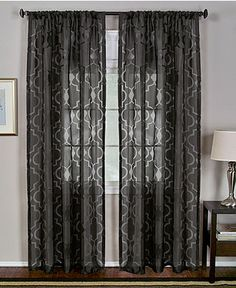 """Elrene Windows, Montego Burn Out Sheer 52"""" x 84"""" Panel - SALE & CLEARANCE - for the home - Macy's"""