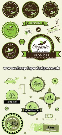 organic green logo design ideas www.cheap-logo-design.co.uk #greenlogos #ecologos #logodesign
